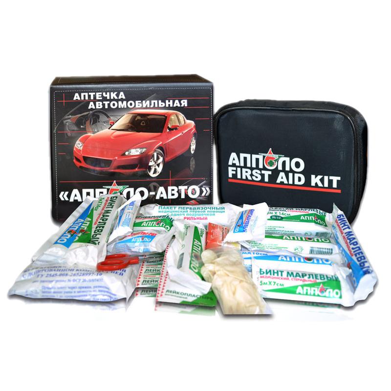 Аптечка автомобильная Апполо-Авто в мягком футляре