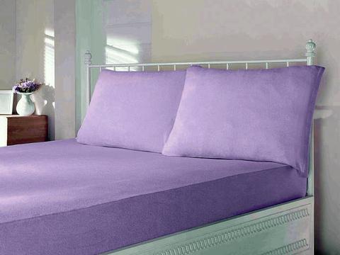 Простынь на резинке трикотажная фиолетовая 220х240  PENYE ПЭНЕ  Maison Dor Турция