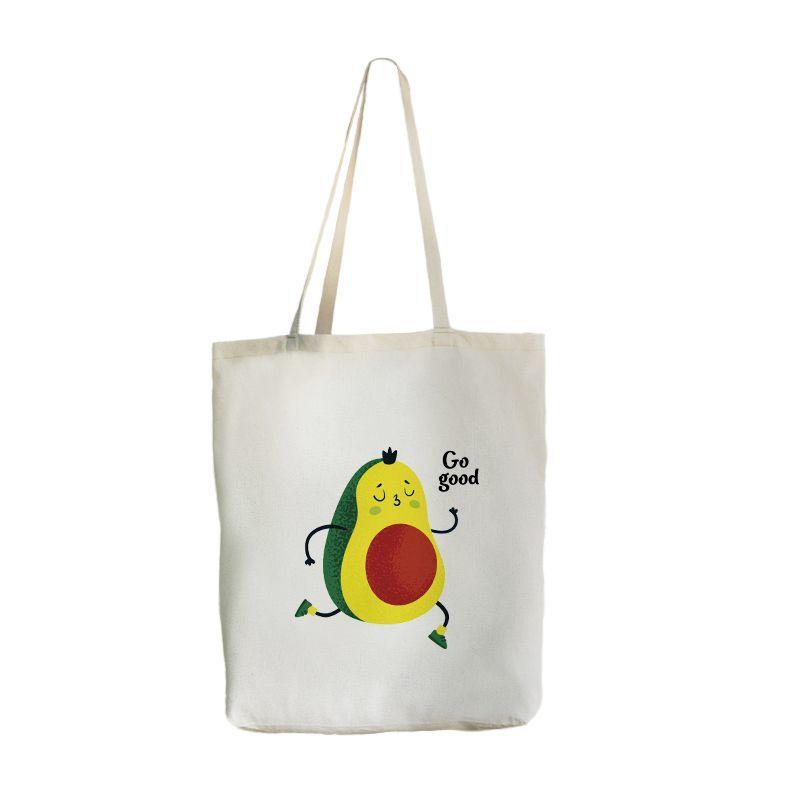 Экосумка с карманом Big-bag Авокадо, 46х41 см