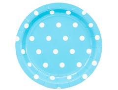 Тарелка Горошек голубая