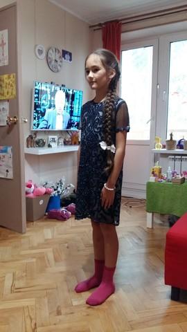 Ажурное платье с бисером (арт.L202889K)