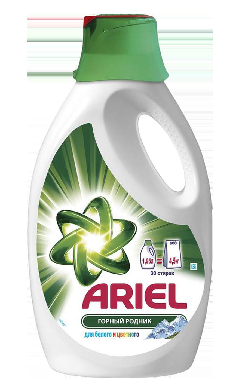 Гель для стирки Ariel Горный родник 1,95 л