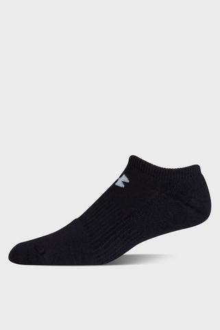 Мужские черные носки (6 пар) CHARGED COTTON 2.0 NOSHOW Under Armour