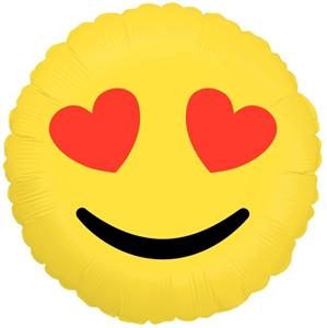 Шар Круг Смайл Эмоции Влюбленный 46 см