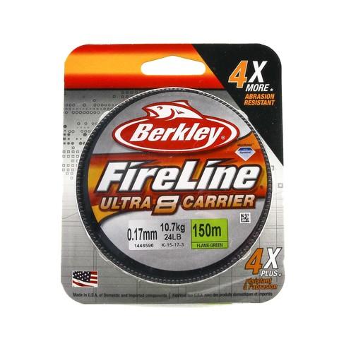 Плетеная леска Berkley Fireline Ultra 8 150M Темно-зеленая 0,17 FL Green