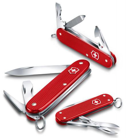 Нож Victorinox Alox Pioneer, 93 мм, 8 функций, красный (подар. упаковка)