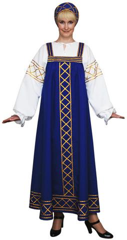 Русский народный костюм Ольга синий
