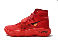 Off-White x Nike REACT Hyperdunk 2017 'Red'