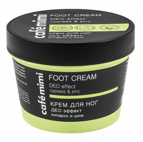 Cafe mimi Крем для ног Део эффект кипарис и цинк (стакан) 110мл