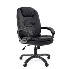 Кресло VT_CHAIRMAN 668 экокожа черная, пластик