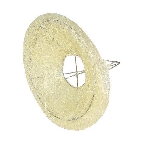 Каркас для букета гладкий (сизаль, диаметр: 30 см) Цвет: белый