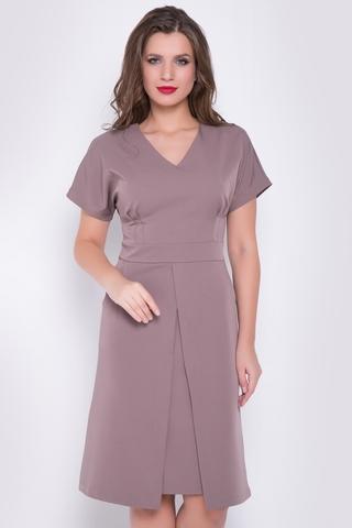 """<p>Элегантное офисное платье. V - образный вырез горловины визуально """"вытягивает"""" силуэт. Рукав """"кимоно"""", приталенный силуэт, функциональные карманы, по спинке замок.</p>"""