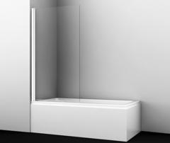 Шторка для ванны WasserKRAFT Berkel 48P01-80WHITE распашная, белый профиль