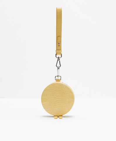 Портмоне-круг желтый