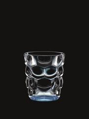 Набор из 2 стаканов для воды с голубым донышком Bubbles, 330 мл, фото 3