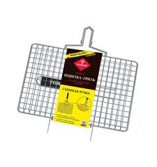 Решетка-гриль со съемной ручкой, 22х35 см