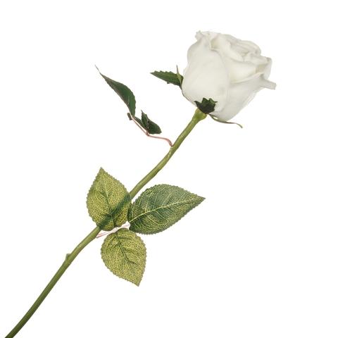 Роза жёлтая с силиконовым покрытием 58 см