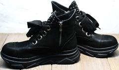 Модные женские ботинки на осень Rifellini Rovigo 525 Black.
