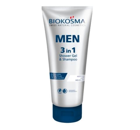 Шампунь-гель для душа 3 в 1 мужской Biokosma, 200 мл ДО 12.2020