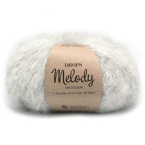 Пряжа Drops Melody 03 светло-серый
