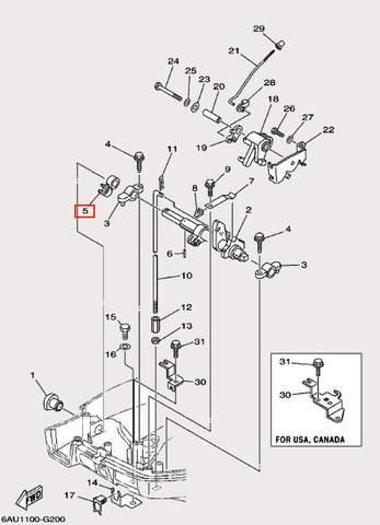 Зажим для лодочного мотора F9,9 Sea-PRO (19-5)