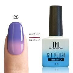 TNL, Термо гель-лак № 28 - темно-пурпурный/светло-лиловый, 10 мл