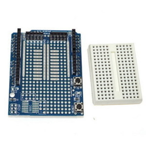 Плата расширения UNO Proto Shield + Breadboard mini (170 точек)