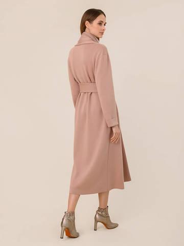 Женский кардиган бежево-розового цвета из 100% шерсти - фото 4