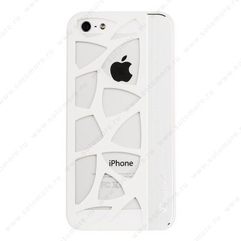 Накладка R PULOKA для iPhone SE/ 5s/ 5C/ 5 с отверстиями белая