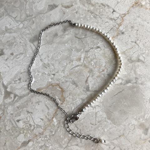 Браслет на ногу Корделия, серебряный цвет