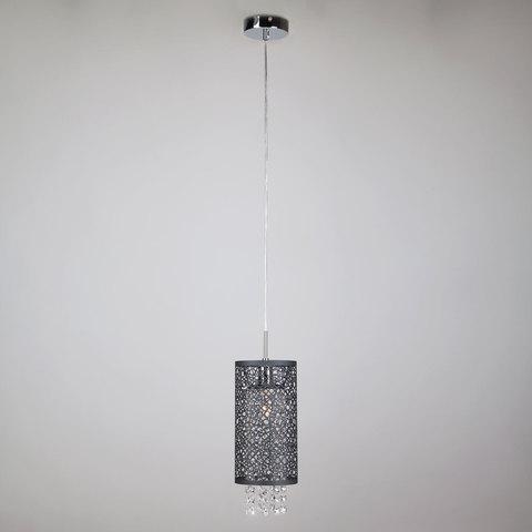 Подвесной светильник с хрусталем 1180/1 хром