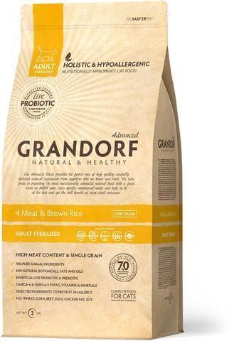 Grandorf 4 Meat & Brown Rice Adult Sterilised