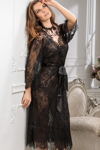 Халат Chanell 2033 Black Mia-Amore