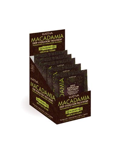Маска для нормальных и поврежденных волос Интенсивно увлажняющая MACADAMIA Kativa, 35 гр.*12 шт.