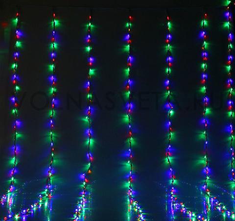 Гирлянда светодиодный дождь мультицветная, 2x3 м, LED-800-220V