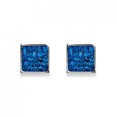Серьги Coeur de Lion 0117/21-0700 цвет синий, серебряный