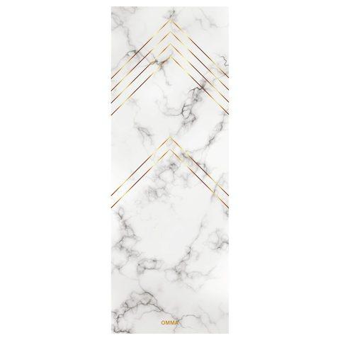 Коврик для йоги Marble 173*61*0,3 см из микрофибры и каучука
