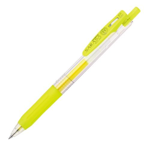 Ручка гелевая Zebra Sarasa Clip Neon Colors (неоново-желтая 0,5 мм)