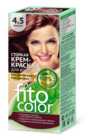 Фитокосметик Fito Color Стойкая крем-краска для волос тон Махагон 115мл