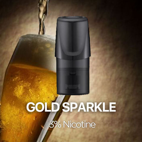 Сменный Картридж RELX 2ml Gold Sparkle 3% (упаковка из 3шт)