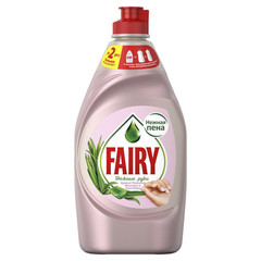 Средство для мытья посуды Fairy Нежные руки Аромат Розового Жасмина и Алоэ Вера 450 мл