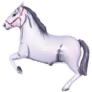 Фольгированный шар Лошадь белая 75 X 107см