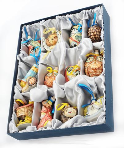 Подарочный набор мини-штофов №1 - 12шт