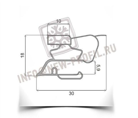 Уплотнитель для холодильника Индезит BH180(025) м.к. 830*570 мм (022)