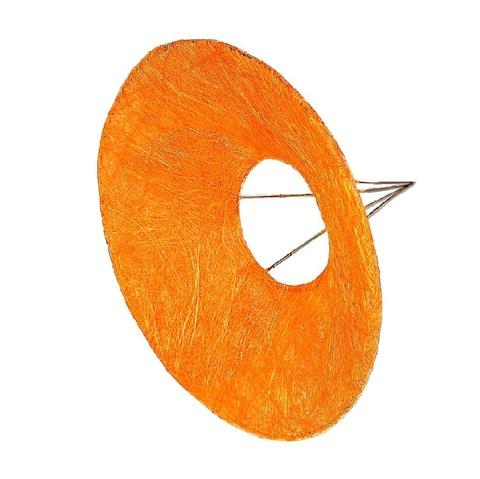 Каркас для букета гладкий (сизаль, диаметр: 30 см) Цвет: оранжевый