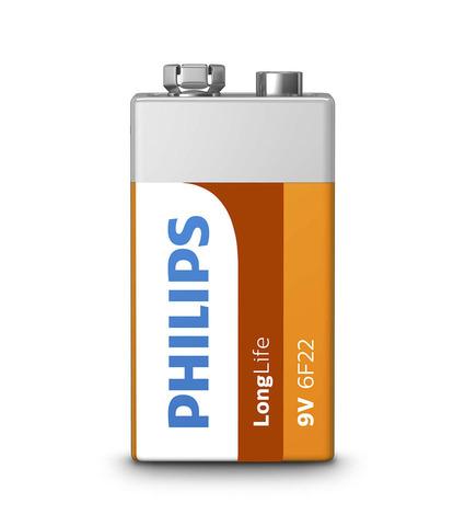 Батарейки Philips 6F22, 9V крона (1/12)