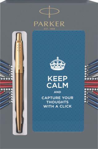 Подарочный набор с блокнотом и Шариковая ручка Parker Jotter Premium, West End Brushed GT123