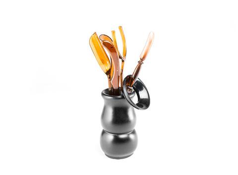 Инструменты для чайной церемонии (Темный пластик) (упаковка 2 шт.) 6 предметов. Интернет магазин чая
