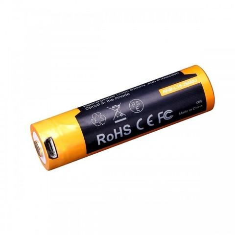 Аккумулятор 18650 Fenix ARB-L18 2600U mAh с разъемом для USB