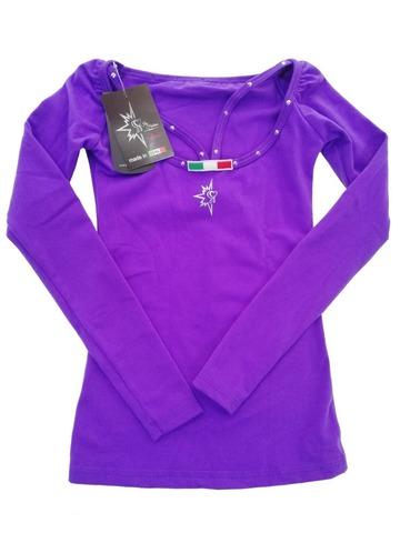 Лонгслив с лямками/со стразами TIITA (фиолетовый)